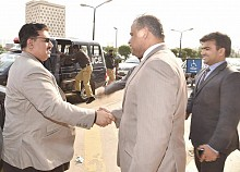 Federal Minister of Commerce Engr Khurram Dastagir Khan Visited Trading Corporation of Pakistan on 18th Feb 2016