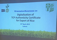 Orientation session by TCP to Rice Exporters